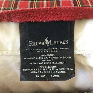 Ralph Lauren Home Bedding - RALPH LAUREN Red Blue Green Black TARTAN Plaid